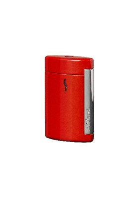 Accendino Dupont minijet chrome finish rosso